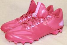 NEW ADIDAS CRAZYQUICK L FOOTBALL ALL PINK NO LOGO CLEATS SHOES SIZE 12.5
