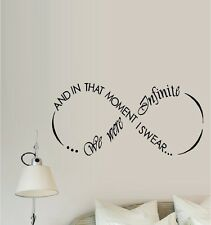 And In That Moment I Swear We Were Infinite ~ Wall Decal, Words & Phrases