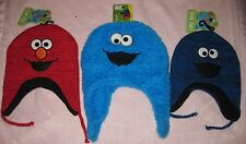 Sesame Street Elmo & Cookie Monster Toddler Laplander Hats Fleece One Size