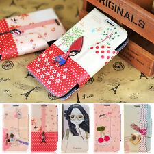 FASHION CUTE WALLET LEATHER FLIP STAND CASE FOR SAMSUNG GALAXY NOTE 2 3 S4 Mini