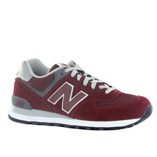 New Balance 574 Classic Traditionnels Burgundy Mens Trainers