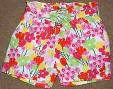 GYMBOREE Tea Time Afternoon Pink Floral Belted Shorts 4 NWT LAST ONE