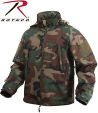 Woodland Camouflage Special OPS Tactical Soft Shell Waterproof Jacket 9906