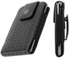 Leather Vertical Pouch Case with Fixed Swivel Pocket Belt Clip for HTC