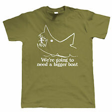 We're Going To Need A Bigger Boat Mens Funny Fishing T Shirt - Shark Jaws