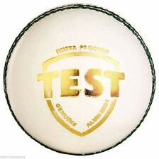 SG Test White 4 Piece Ball LEATHER Cricket Ball 6x,12x + Free Ship+ Test Quality