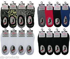 1/2/3/4/5/6 PAIRS OF LADIES INVISIBLE TRAINER SOCKS LINERS NO SHOW SHOE SIZE 4-7