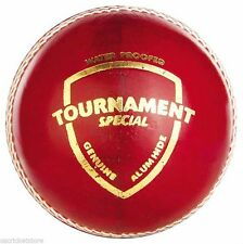 SG Tournament Special Red 4 Piece Ball LEATHER Cricket Ball 6x/12x + Free Ship