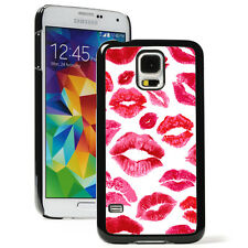 For Samsung Galaxy S3 S4 S5 Hard Case Cover 30 Red Kiss lips Kisses Kissing
