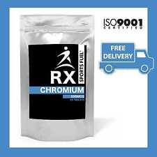 RX Sports Fuel - Chromium 200mg- Metabolism / Energy / Weight Loss - FREE P&P