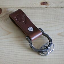 Leather Key Fob Belt Loop Key Holder Screw Shackle - Handmade in USA