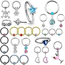 CBR Tragus, Upper Ear Cartilage Piercing Captive Bead Ring Eyebrow Nipple Septum