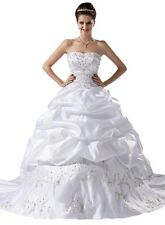 FairOnly Embroidery Ball Bridal Gown Wedding Dress Stock Size:6 8 10 12 14 16