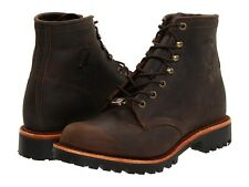 Men's Chippewa 25290 6 Inch Sorrel Crazy Horse Brown Bay Apache Lace Up Boot