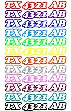 CUSTOM BOAT OR PWC JET SKI REGISTRATION HULL ID NUMBER DECAL STICKERS