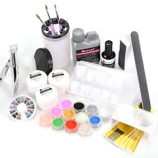 Full Acrylic Powder Liquid Glitter Primer French Tips Nail Art Brushes Tool Kit