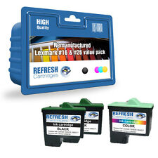 REMANUFACTURED LEXMARK INK #16 + #26 - 3 CARTRIDGE EVERYDAY VALUE PACK