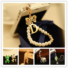 For Cell phone 3.5mm Rhinestone Anti Dust Crystal Earphone Jack Plug Stopper Cap