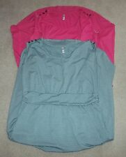 XHILARATION NWT 1 2 blue striped pink solid button details sleeveless variations