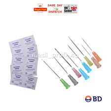 BD Sterile Needles + Swabs Choice of Sizes & Quantity Blue Ink FAST SHIPP