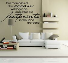 Footprints in the Sand ~ Wall or Window Decal