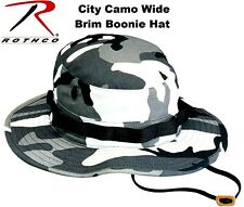 City Camouflage Military Police Tactical Wide Brim Bucket Boonie Hat 5801