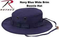 Navy Blue Military Police Tactical Wide Brim Bucket Hunting Boonie Hat 5826