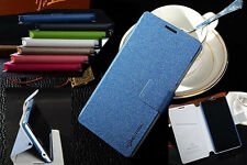 Wallet Sand Leather Case Stand Flip Cover For iphone HTC Huawei OPPO Sony Xiaomi