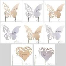 Butterfly & Heart Place Cards - Ivory or White - Wedding, Party, Reception, Name
