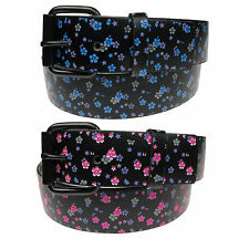 Ladies Womens Flower Belt Floral Print