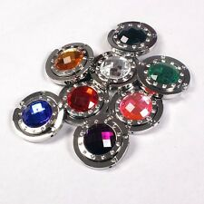 Multicolor Beauty Crystal Folding Purse Handbag Bag Hook Hanger Hold Holders