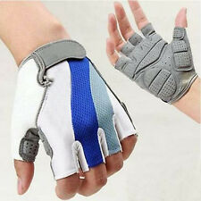 Cycling Bicycle Bike Motorcycle Gel Silicone Half Finger Fingerless Gloves M-XL