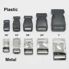"Contoured 5/8"" 3/4"" 1"" Side Release Buckles Clasps for Paracord Bracelets 1 5 10"
