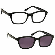 Reading Glasses & Sun Readers Twin Pack Mens Womens Large Black UVRPK018