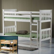 Happy Beds Seattle Solid Wooden Bunk Bed Home Furniture Bedroom 2x Mattress New