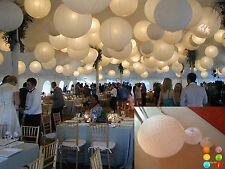 "10 PACK White Round Paper Lanterns 8"" 10"" 12"" For LED BULB Wedding Party Decor"