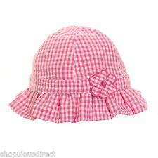 Pink Gingham Baby Girl Kids Sun Hat Children Toddler 100% cotton lined 4 sizes