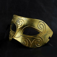 Handmade Cool Man Guy Jazz Flat Carved Masquerade Party Costume Ball Mask 2Color