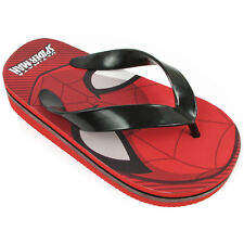 Spider-Man Boys Red Flip Flops Sandals Shoes SPS130 7 8 9 10 11 12
