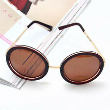 Hot ! Fashion High Quality Unisex Retro Round Silver Gold Metal Frame Sunglasses