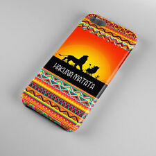 Hakuna Matata on Aztec Sunset Lion King For iPhone 5s 5 4S 4 Hard Case Cover