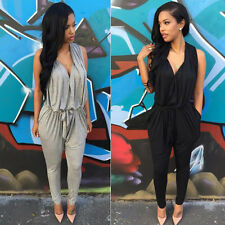 Black&White Splicing Jumper Jumpsuit Fashion Women's Office Slim Romper Overall