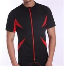 Cycling Bike Jersey Short Sleeve Black & Red Unisex Mens Womans S M L XL XXL