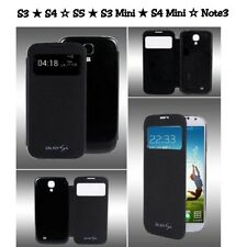 Flip S-View Case Battery Cover For Samsung Galaxy S3 S4 Mini S3 S4 S5 Note 3
