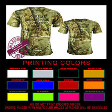 Custom Personalized Realtree Camo  Any Text Logo T Shirt Top Quality Printing