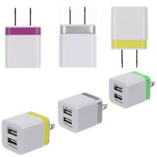 1.0 2.1Amps US Plug Dual-Port USB Travel Fast Wall Charger for Smartphones