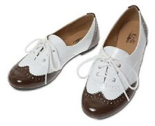 Womens Patent Oxfords Lace Up Classic Enamel Ballet Low Heels Flat Loafer Shoes