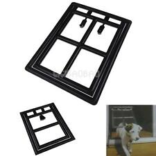 #gib Plastic Black Dog Cat Kitty Door for Screen Window Gate for Home Cottage