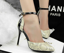 2014 Fashion New Women's Point Toe Ankle Strap High Heels Stilettos Shoes a656
