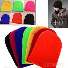 Vogue Mens Winter Solid Color Plain Beanie Knit Ski Cap Skull Hat Warm Beany B74
